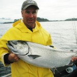 Jim with a dandy of a king salmon prior to release